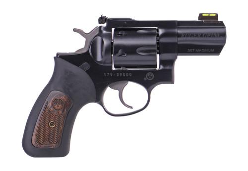 """Ruger GP100 Carry .357 Magnum, 2.5"""" Barrel, HiViz Front, Black, 6rd"""