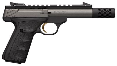 "Browning Buck Mark Field Target SR .22 LR, 4.4"" Barrel, Ultragrip FX, Tungsten, 10rd"
