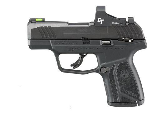 """Ruger MAX-9 9mm, 3.2"""" Barrel, Crimson Trace Red Dot, Manual Safety, Black, 12rd"""