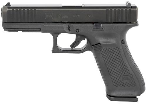 "Glock 17 Gen5 USA 9mm, 4.49"" Barrel, Fixed Sights, Black, 17rd"