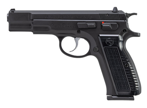 "CZ 75 B Retro 9mm, 4.6"" Barrel, 3-Dot Fixed, Manual Safety, Black, 16rd"
