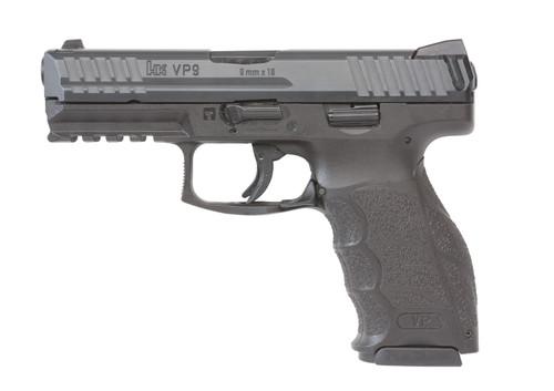"HK VP9 9mm, 4"" Barrel, 3-Dot Sights, Black, 10rd"