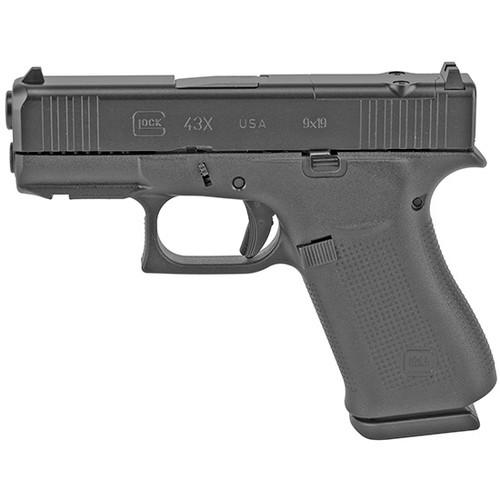 "Glock G43X MOS USA 9mm 3.41"" GMB, Fixed Sights, Black, 10rd"
