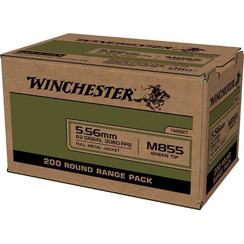 Winchester USA 5.56x45 NATO, 62gr, FMJ Lead Core, 200rd Box