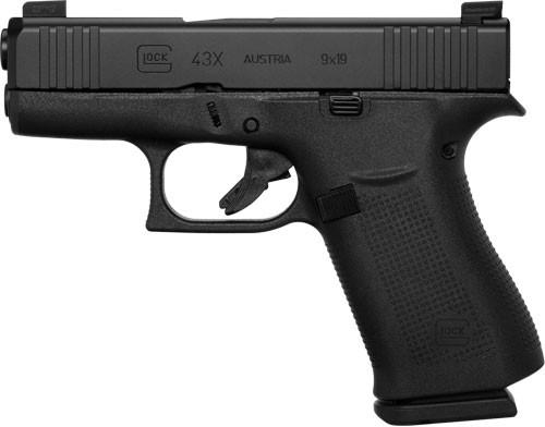 """Glock 43X Factory Rebuilt AUS 9mm, 3.41"""" Barrel, Fixed Sights, Black, 10rd"""