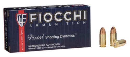 Fiocchi Shooting Dynamics 9mm 115gr, FMJ, 50rd Box