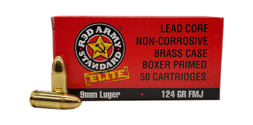 Century Arms Red Army Standard Elite 9mm, 124gr, Full Metal Jacket, 50rd Box