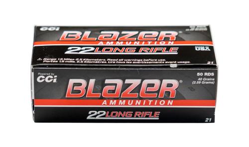 CCI Blazer High Velocity .22 LR, 40gr, Lead Round Nose, 50rd Box