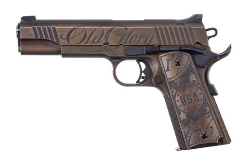 "Auto-Ordnance Old Glory 1911 .45 ACP, 5"" Barrel, Engraved, Walnut, Distressed Bronze, 7rd"