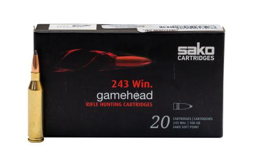 Sako .243 Win, 100gr, Gamehead, 20rd Box