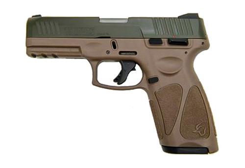 """Taurus G3 9mm, 4"""" Barrel, Adj. Rear/White Dot Front, ODG/Brown, 15rd/17rd"""