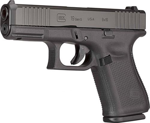 """Glock 19 Gen5 USA Factory Rebuilt 9mm, 4.02"""" Barrel, Fixed Sights, Black, 15rd"""