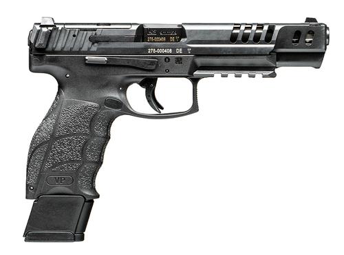 "HK VP9 Match Optic Ready 9mm 5.51"" 20+1 (4) Black Polymer Frame Black Steel Slide Black Interchangeable Backstrap Grip"