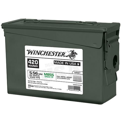 Winchester Lake City M855 5.56 NATO, 62gr, Green Tip, 420rd