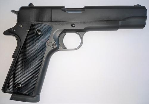 "SDS Imports 1911 A1 Service 45 ACP 5"" 8+1 Black Cerakote Black Cerakote Steel Slide Black Polymer Grip"
