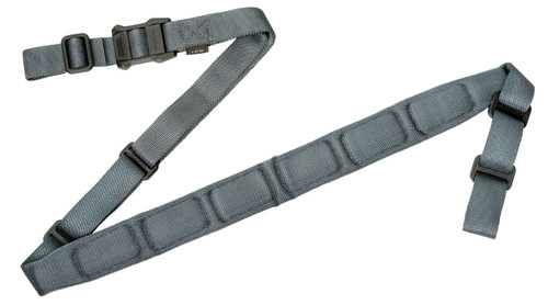 """Magpul MS1 Sling, 1.25"""" W x 60"""" L, Tapered, Padded, Two-Point, Gray"""