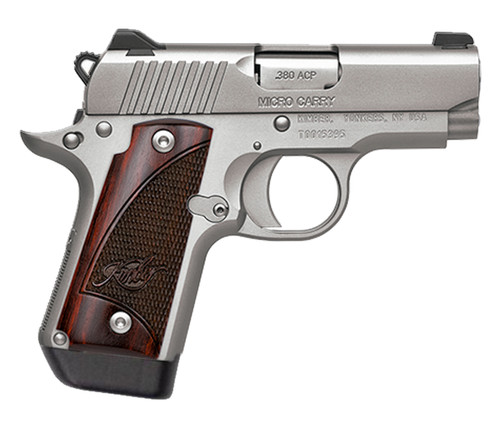 """Kimber Micro Carry .380 ACP, 2.8"""" Barrel, Stainless, Rosewood, NS, Holster, 3x 7rd Mags"""