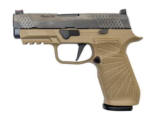 "Wilson Combat WCP320 Carry 9mm, 3.9"" Barrel, FO Front, NTS, Tan, 17rd"