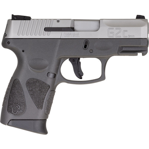 """Taurus G2C 9mm, 3.2"""" Barrel, Fixed Sights, Stainless Steel/Black, 12rd"""