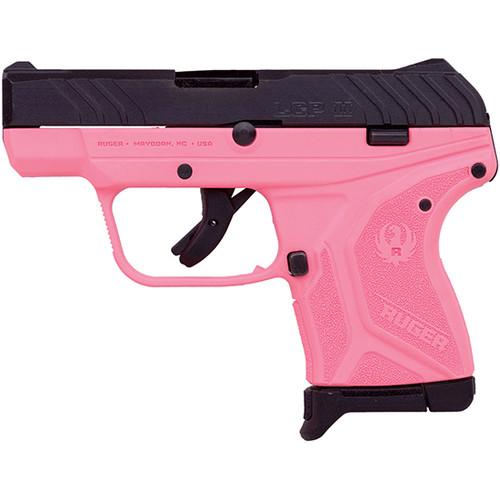 "Ruger LCP II .380 ACP, 2.75"" Barrel, Fixed Sights, Pink/Black, 6rd"