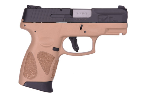 "Taurus G2C 9mm, 3.25"" Barrel, Adjustable Sights, FDE/Black, 12rd"