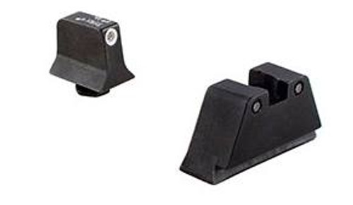Trijicon Trijicon Bright & Tough Night Sight Suppressor Set ??? White front/Black rear with Green Lamps ??? for Glock Models 20 21 29 30 and 41 (including S and SF variants)