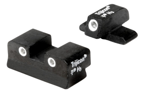 Trijicon Bright & Tough Night Sight Set 3-Dot Tritium Green with White Outline Front & Rear Black Frame for FN 509