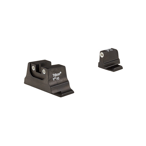 Trijicon Bright & Tough Night Sight Suppressor Set, White Front/White Rear & Green Lamps - for Smith & Wessonc.O.R.E.