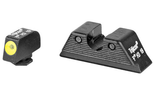 Trijicon HD Night Sight Set MOS Fit Rear Yellow Front Outline for Glock Models 17, 17L, 19, 22, 23, 24, 25,  26, 27, 28, 31, 32, 33, 34, 35, 37, 38 and 39