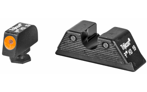 Trijicon HD Night Sight Set MOS Fit Rear Orange Front Outline for Glock Models 17, 17L, 19, 22, 23, 24, 25,  26, 27, 28, 31, 32, 33, 34, 35, 37, 38 and 39