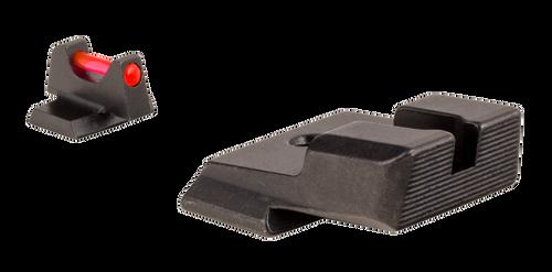 Trijicon Fiber Sight Set Interchangeable Fiber Optic Green & Red Front, Black Rear Black Frame for S&W M&P, M&P M2.0 (Except M&P Shield, CORE)