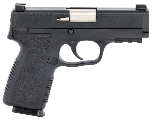 """Kahr Arms, P9-2, Semi-automatic, 9mm, 3.6"""" Barrel, Black Color, Polymer Frame, Blackened Stainless Steel Slide, TruGlo Night Sights, 7Rd, 2 Magazines"""