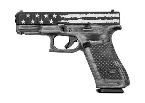 "Glock 45 USA 9mm, 4"" Barrel, Fixed Sights, Black Flag, 17rd"