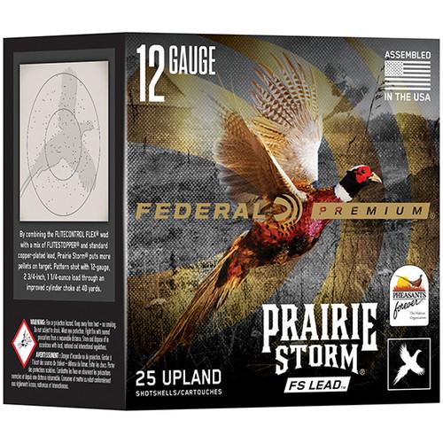 """Federal Prairie Storm 12 Ga, 3"""" Shells, 1 5/8 oz, 4 Shot, 25rd Box"""