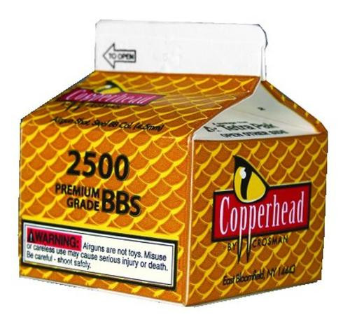 Crosman CopperHead BBs .177 Copper-coated Steel, 2500/Carton