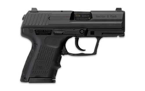 """HK, P2000SK, V2, LEM Double Action Only, Sub Compact, 40S&W, 3.26"""" Barrel, Polymer Frame, Black, 3 Dot Sights, 9Rd, 2 Magazines"""