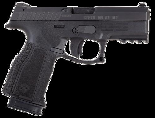 "Steyr Arms M9-A2 MF 9mm 4"" 17rd Black Polymer Frame Black Steel Slide Black Interchangeable Backstrap Grip"