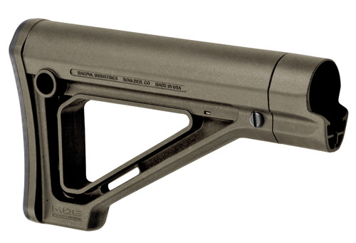 Magpul MOE Carbine Stock, Fixed Position, Synthetic, OD Green