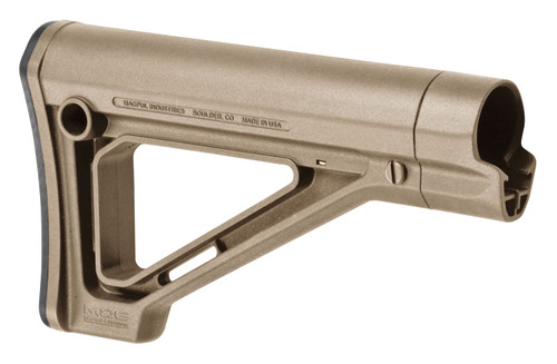 Magpul MOE Carbine Stock, Fixed Position, Synthetic, Flat Dark Earth