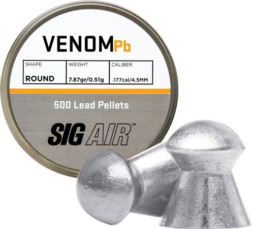 Sig Air Venom Pellet .177 Cal, 7.87gr, Lead, 500ct