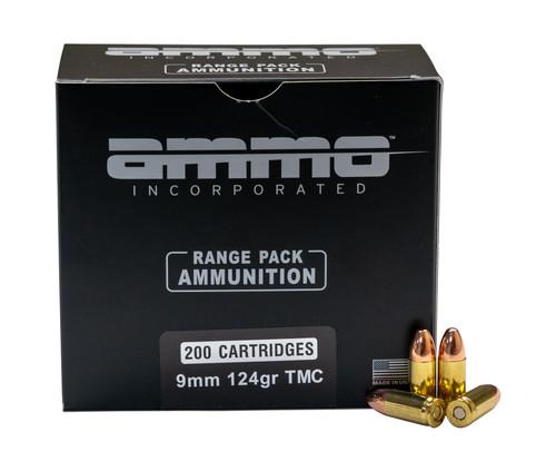 Ammo Inc. 9mm Range Pack, 124gr, TMC, 200rd