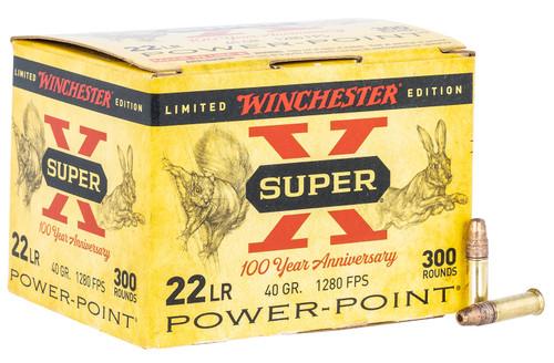 Winchester Super X 100 Year Anniversary .22 LR, 40gr, Power-Point, 300rd Box