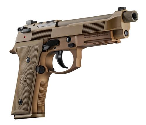 """Beretta M9A4 9mm, 5.1"""" Barrel, Night Sights, Flat Dark Earth, 18rd"""