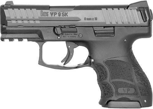 """HK VP9SK 9mm, 3.39"""" Barrel, Night Sights, Black, 10rd"""