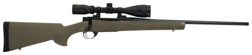 """Howa Hogue Gamepro 2 6.5 PRC Cap 24"""" TB Blued Rec/Barrel Green Fixed Hogue Pillar-Bedded Overmolded Stock Right Hand (Full Size) Includes 3.5-10x44mm Scope 3+1Rd"""