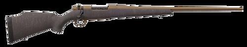 "Weatherby Mark V Weathermark 6.5 Weatherby RPM 24"" Burnt Bronze Cerakote Burnt Bronze Webbed Matte Gel Coated Black Fixed Monte Carlo Stock Right Hand (Full Size) 4+1Rd"