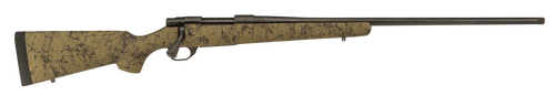 """Howa 1500 6.5 PRC 24"""" TB Black Rec/Barrel Green with Black Webbing Fixed HS Precision Stock Right Hand (Full Size) 3+1Rd"""