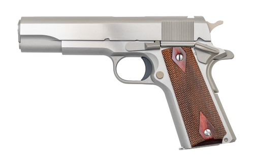 """Colt Series 70 1911 .38 Super, 5"""" NM Barrel, No Rollmarks, No Sights Installed, Stainless, 8rd"""