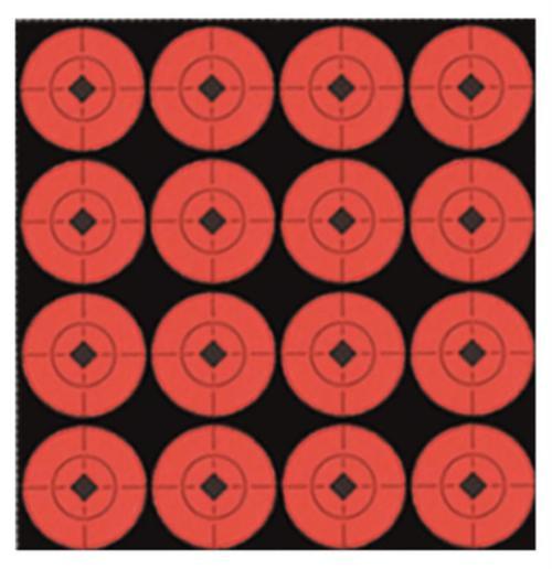 "Birchwood Casey Target Spots 6"" Red Bullseye, Pasters Adhesive, 10/Pack"