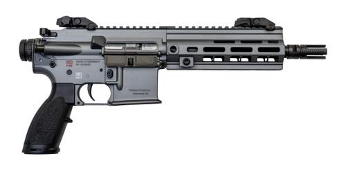 """HK 416 Pistol .22 LR, 8.5"""" Barrel, No Brace, Flip-Up Sights, Tungsten Gray, 20rd"""